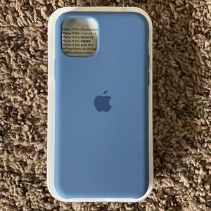 iPhone 11 Pro silicone case Alaskan Blue